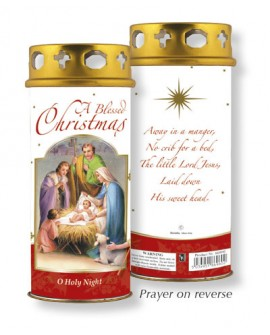CHRISTMAS NATIVITY SCENE CANDLE