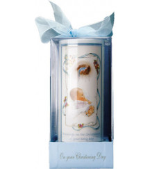 CHRISTENING BAPTISM CANDLE BOY