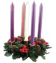 CHRISTMAS ADVENT CANDLES  + CHRISTMAS WREATH