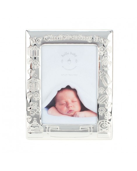 Christening Photo Frame Silver Plated
