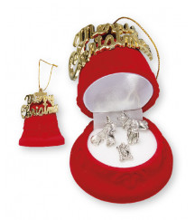 CHRISTMAS NATIVITY SET IN A LUXURY RED VELVET BOX