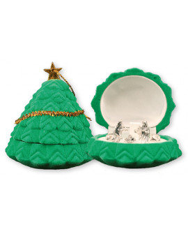 CHRISTMAS NATIVITY SET IN A LUXURY GREEN VELVET