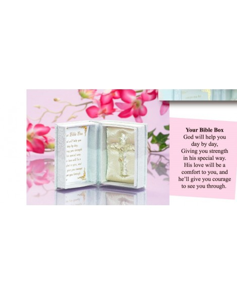 Christening Cross in a Box White