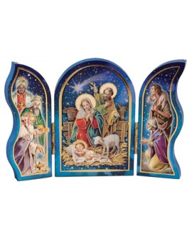 Christmas Plaque Triptych Nativity