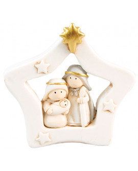 CHRISTMAS MINI NATIVITY SET IN A STAR