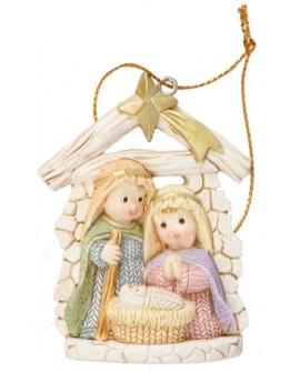 CHRISTMAS MINI NATIVITY SET TREE ORNAMENT