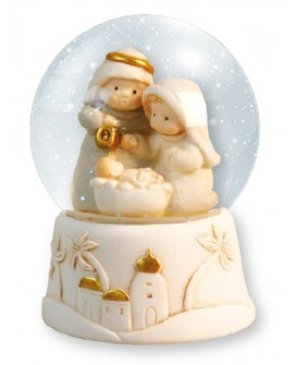 Christmas Snowball Nativity Scene Light Up