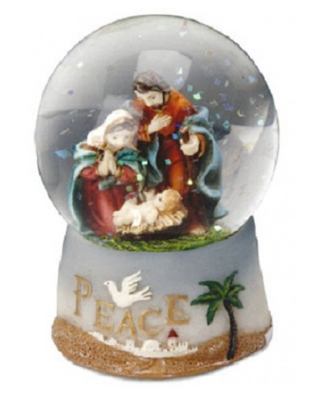 Christmas Snowball Nativity Scene Small