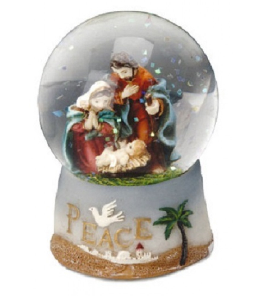 CHRISTMAS SNOWBALL NATIVITY SCENE
