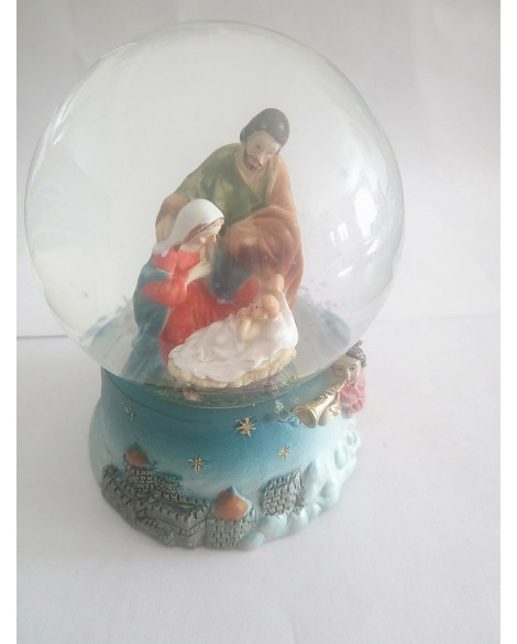 CHRISTMAS SNOWBALL NATIVITY SCENE LARGE