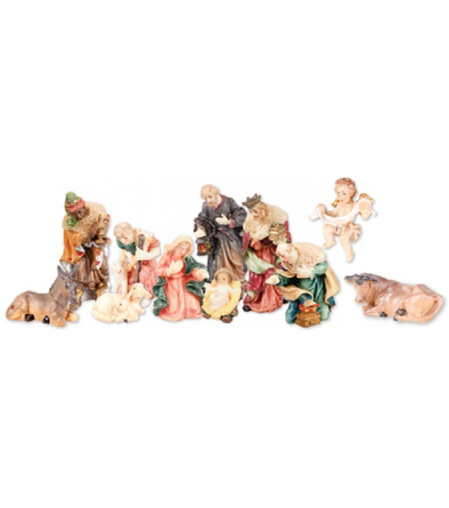 CHRISTMAS TRADITIONAL  NATIVITY SET 11 FIGURES