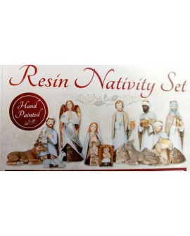 Christmas Nativity Set 11 Figures Lifestyle Hand Painted