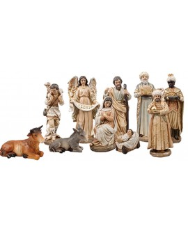 Christmas Nativity Set 10 Figures Hand Painted