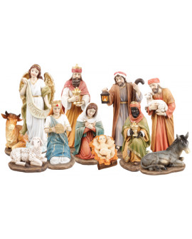 CHRISTMAS NATIVITY SET 11 FIGURES 25 cm