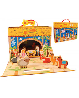Christmas Nativity Set & Shed 13 Figures For Children