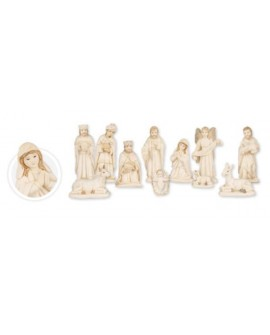 CHRISTMAS WHITE NATIVITY SET 11 FIGURES 6""