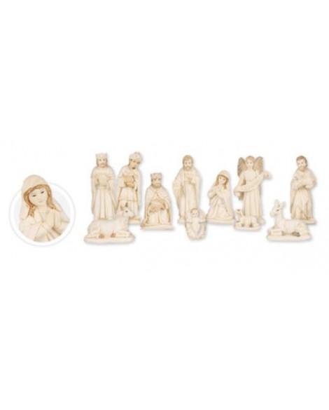 Christmas White Nativity Set  11 figures 6''
