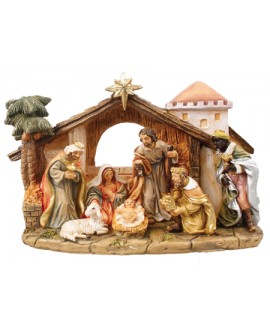 CHRISTMAS NATIVITY SET 7 FIXED FIGURES
