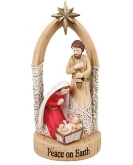 CHRISTMAS HOLY FAMILY NATIVITY SET FREE STANDING