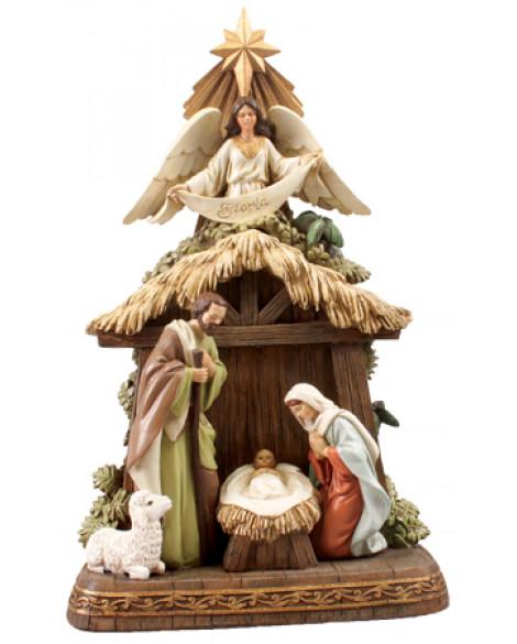 Christmas Nativity Angel & Star Free Standing