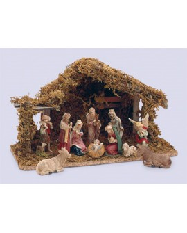 Christmas Nativity Set & Shed 11 Figurines