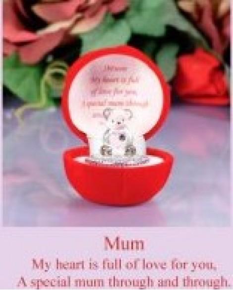 Mum Gift Pink Love Heart Teddy Bear Mum