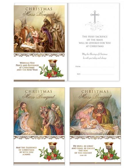 Christmas Mass Cards Pk 3