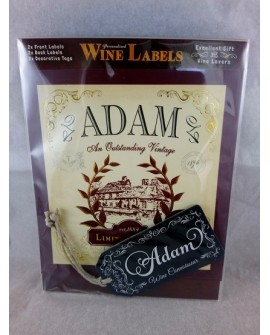 Personalised Gift Him Wine Label Adam Novelty Gift