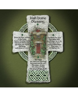 St Patrick's Day  Irish Home Blessing Cross