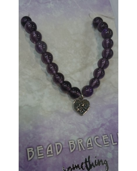 AMETHYST BRACELET WITH BEADS