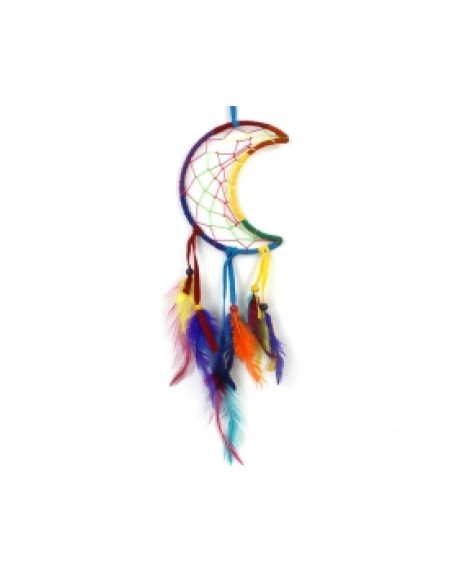 Dream Catcher Rainbow Cresent Moon