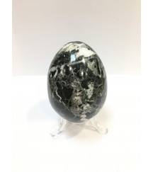 MARBLE EGG BLACK + STAND