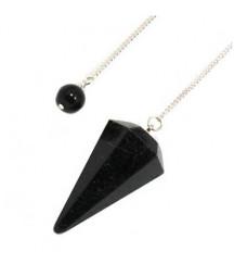 Black Tourmaline Pendulum 6 Sides