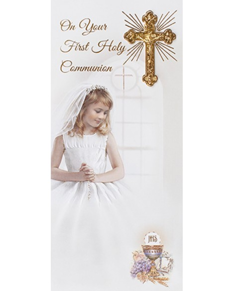 First Holy Communion Card Girl
