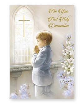 First Holy Communion Card Boys