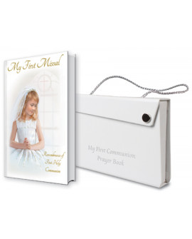 Communion Prayer Book & White Carrier Case Girl