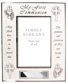 First Holy Communion White Photo Frame
