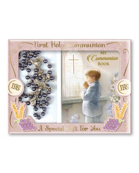 First Holy Communion Rosary & Prayer Book Set Boy