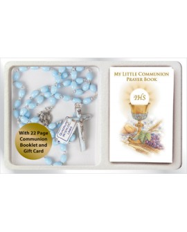 First Holy Communion Rosary & Mini Prayer Book Set Boy