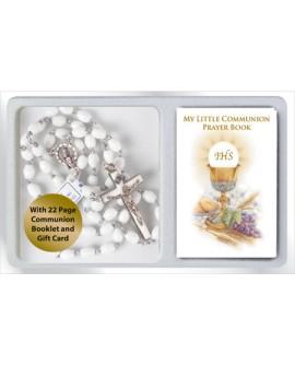 First Holy Communion Rosary & Mini Prayer Book Set Boy Girl