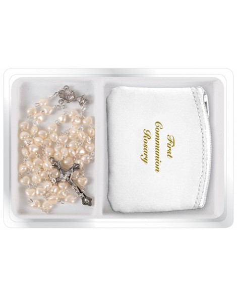 First Holy Communion Rosary & Purse Set Girl