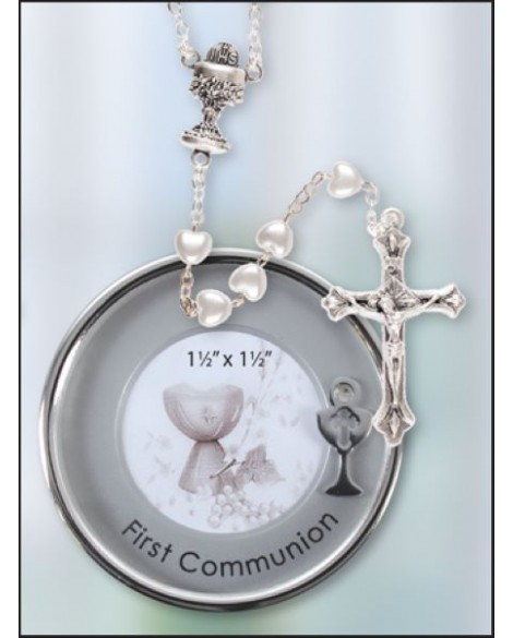 Communion Rosary Beads Metal  Box