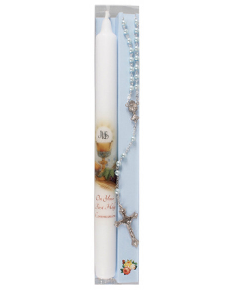 First Holy Communion Candle Set Blue