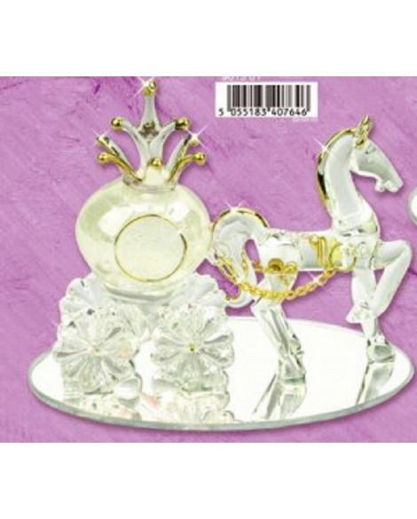 WEDDING GIFT CINDERELLA & PUMPKIN CARRIAGE WITH WHITE HORSE