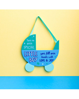Baby Plaque Boy Blue