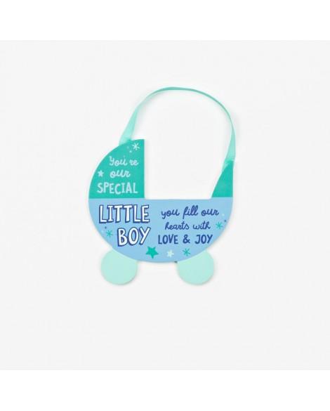 Baby Plaque Boy Blue