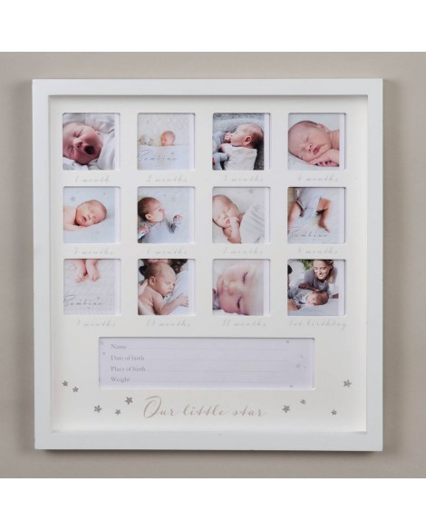 Baby Multi Frame 1st Year White