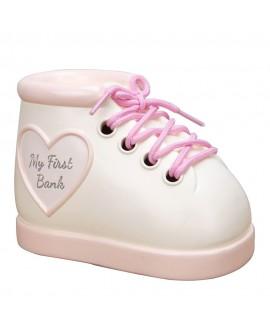 Baby Girl Money Box Boot Pink