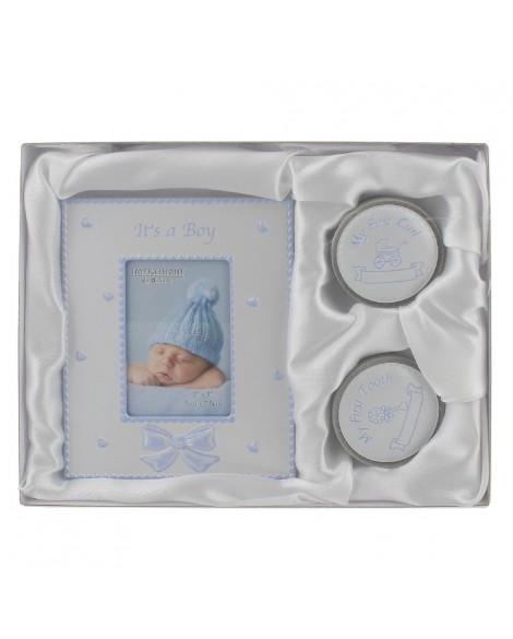 Baby Gift Set 1st tooth 1st Curl & Photo Frame Set