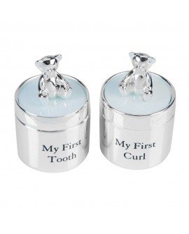 Baby Gift Set 1st tooth 1st Curl Silver Plated